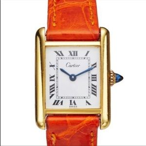 AUTHENTIC Cartier Women's 18K Gold Tank Watch